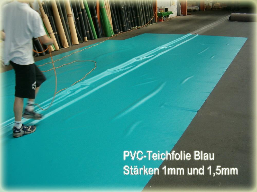 Bache pvc bassin bleu for Bache en pvc pour bassin